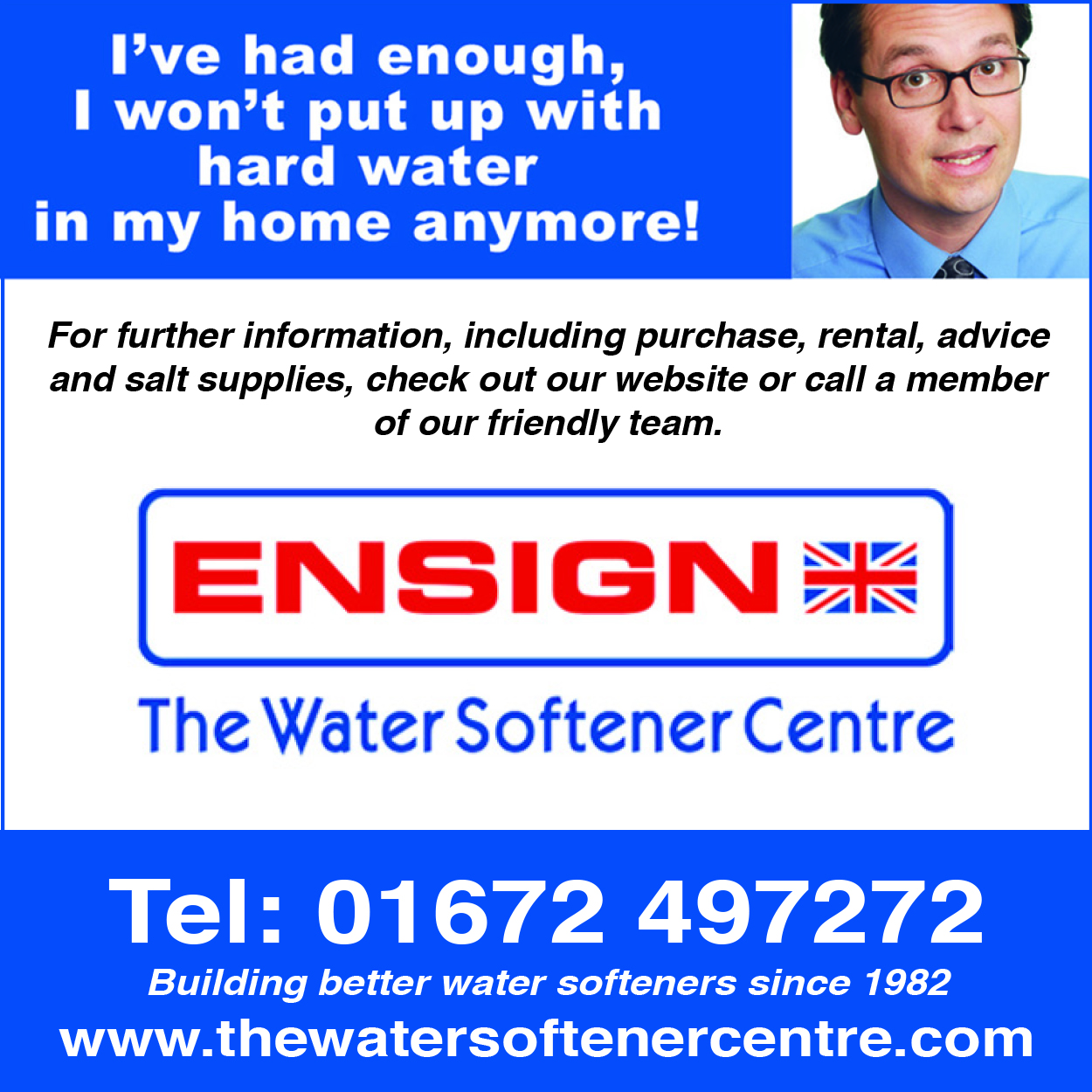 Ensign Water Softener - leave till April 20