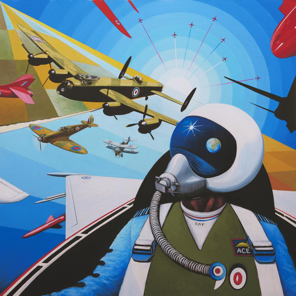 Option 7 by David Bent. Option 7 has been exhibited at: The Royal Air Force Museum in a year long solo retrospective of David's work (fresh Air 12/13 ), The exhibition inspired over 800 children to create their own art. The Royal Air Force Club, The Russell Cotes Art Gallery & Museum, The National Memorial Arboretum. A number of iconic aircraft are included - you might like to see how many can be seen.