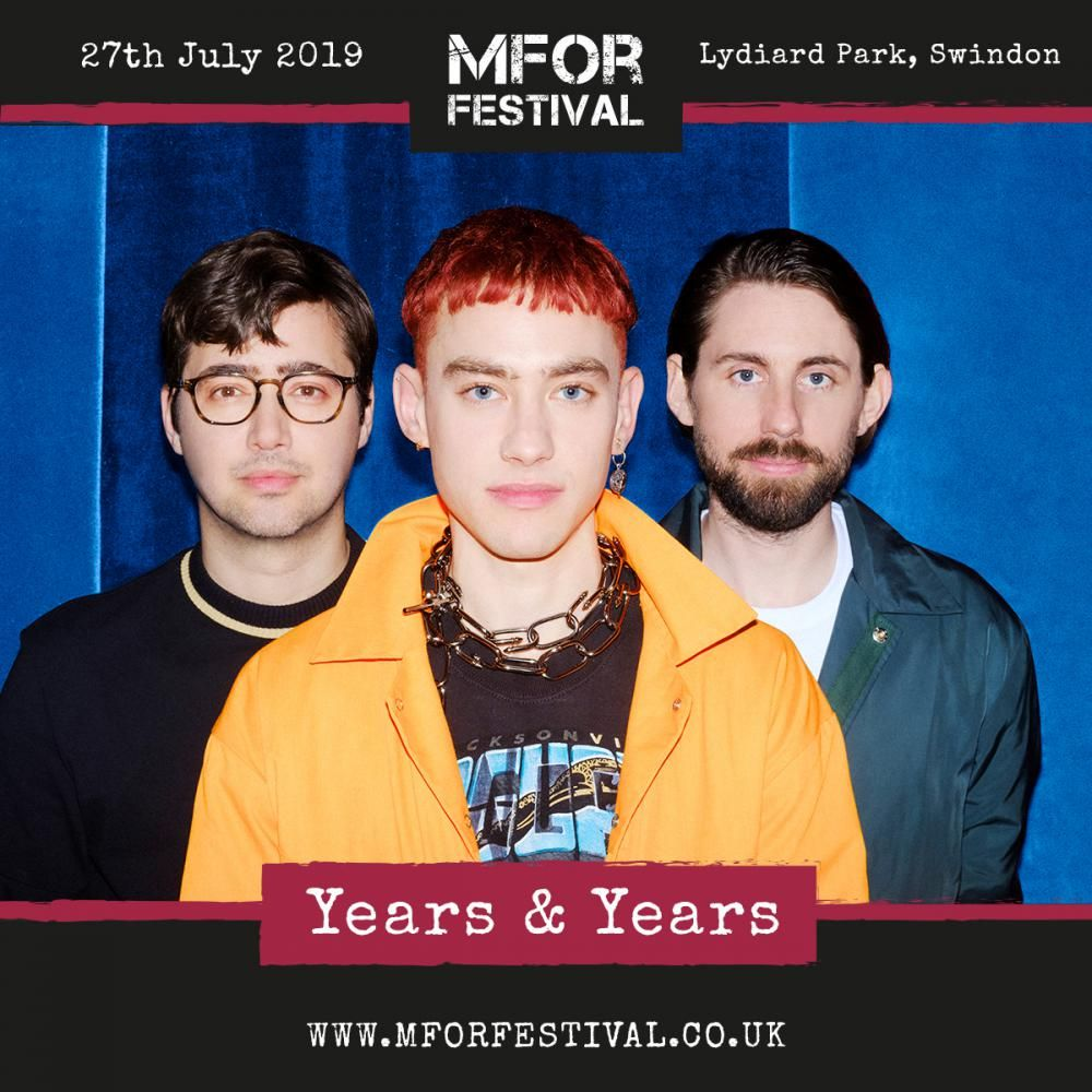 Years & Years announced for Swindon's Mfor Festival 2019