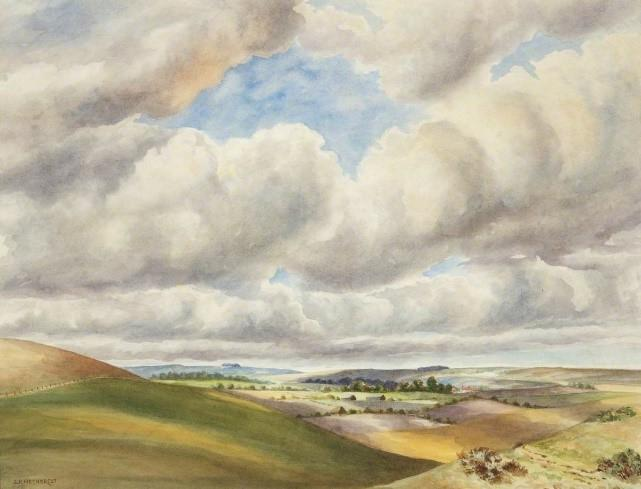 The Edge of Salisbury Plain by Sidney Richard Nethercot (1878–1951)