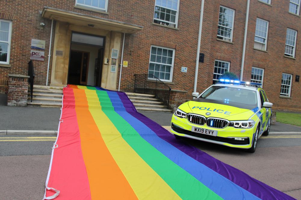 Wiltshire Police rolled out the rainbow flag to mark PRIDE in 2019