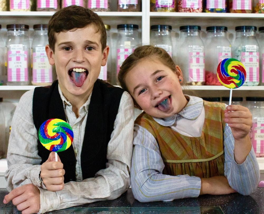 Chitty cast have a 'truly scrumptious' time at the sweet shop
