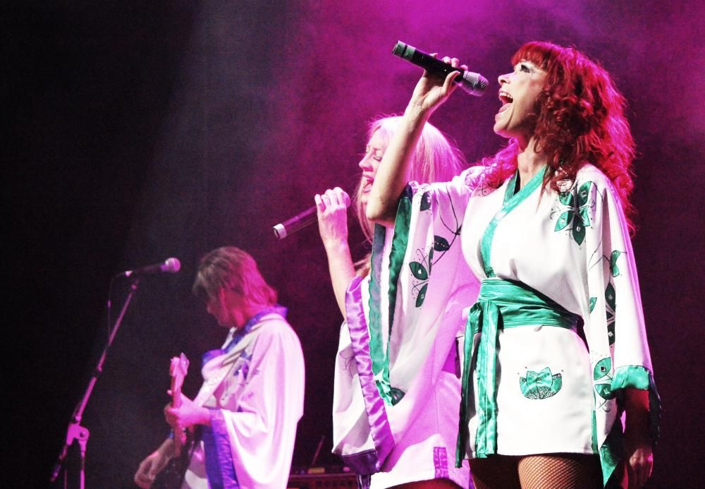 Happier times: shows such as Abba tribute Thank You for the Music drew Wyvern audiences