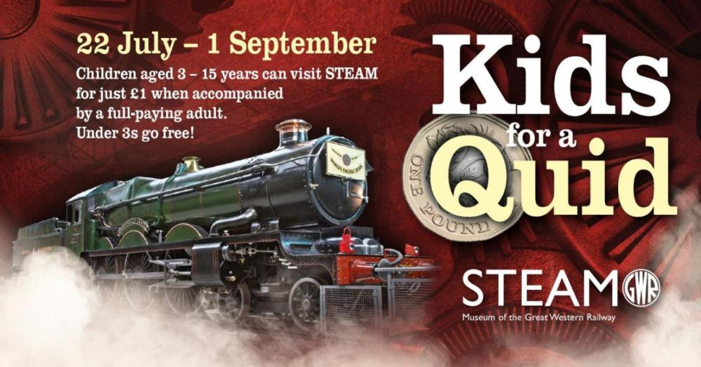 All Aboard for Summer Holiday £1 Offer at STEAM