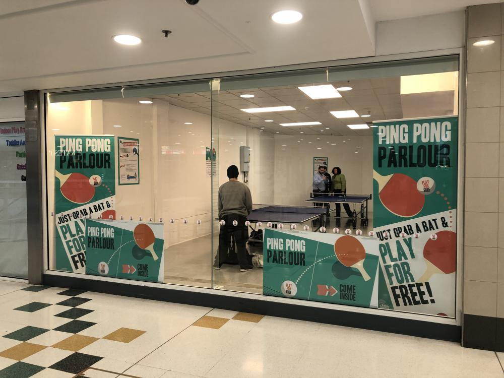 'It's a great addition' - free ping pong available at The Brunel Centre