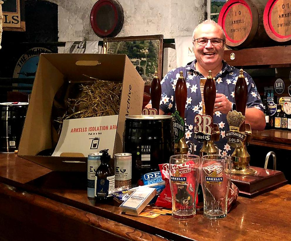 Andy Moss is one of the first happy customers to receive an Arkells' Pub in a Box