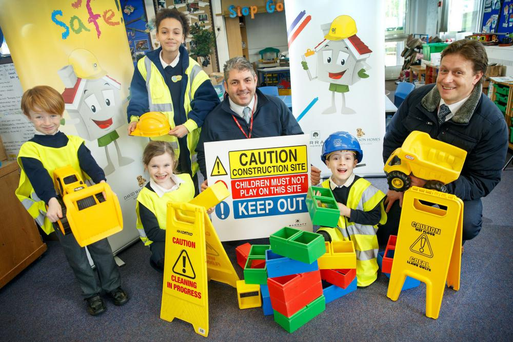 Barratt Homes' warning to children in Wiltshire over building site dangers this summer