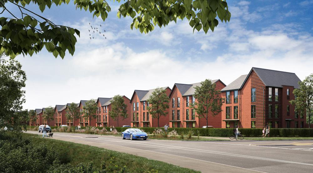 CGI images of proposed new homes at Wichel Fields, Wichelstowe