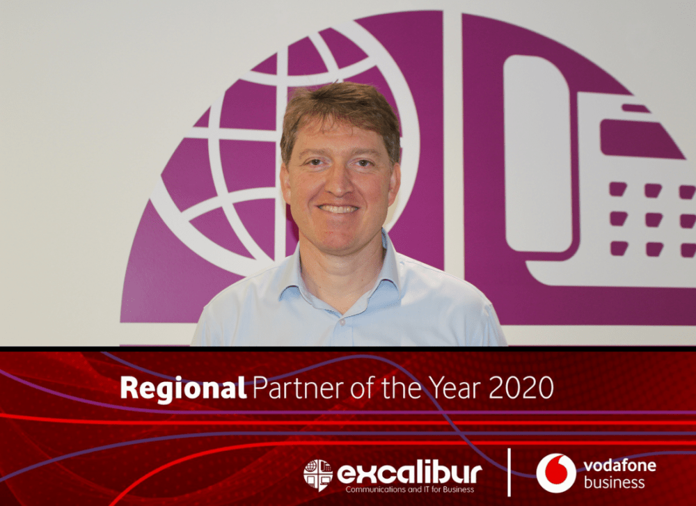 Excalibur announced as Vodafone Regional Partner of the Year 2020
