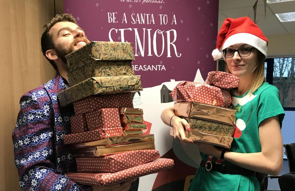 Team members delivered gifts last Christmas