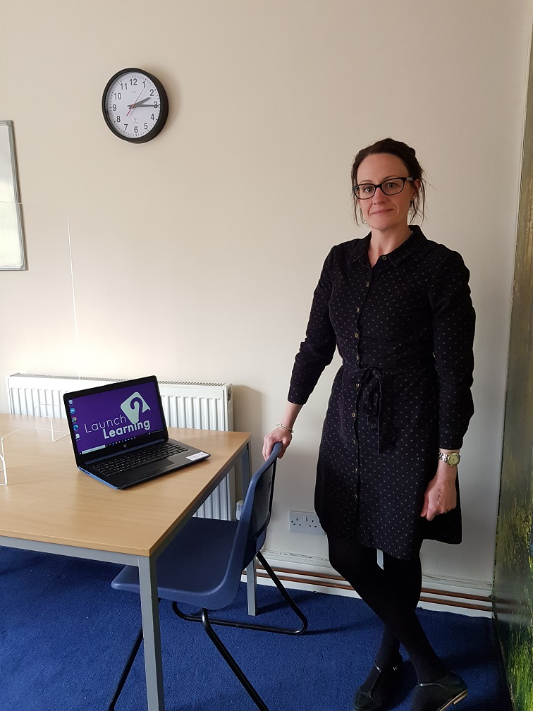 Exam officer Emma Smith at the exam centre in Royal Wootton Bassett