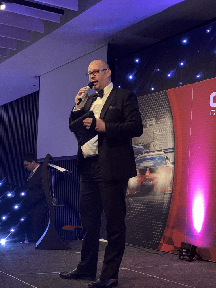Motorsport awards go online – and so does the Master of Ceremonies!