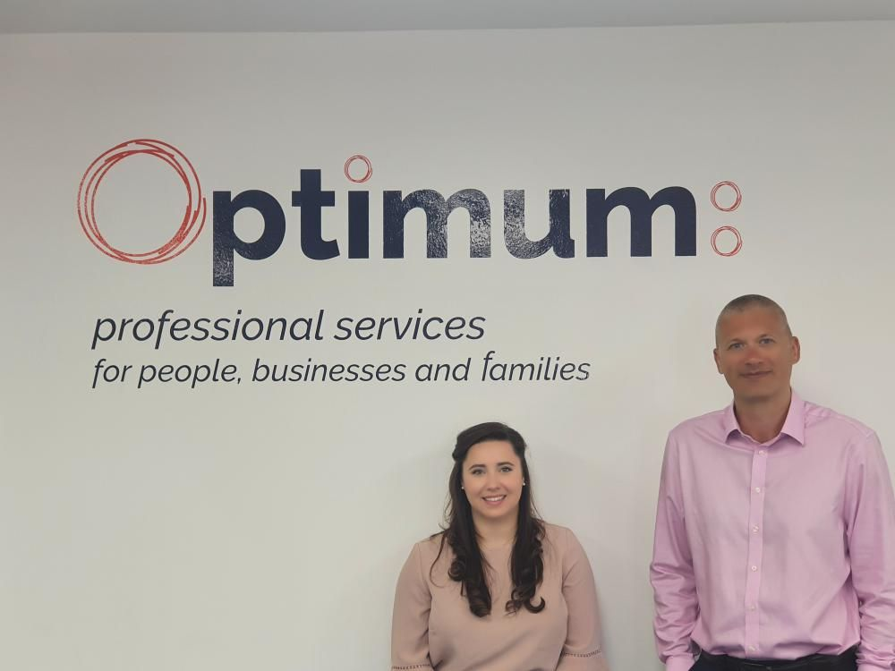 New Audit & Assurance Manager Hannah Churches with director and Head of Audit Rob Stokes
