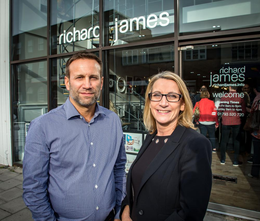 Richard James and Sue Gidney of Richard James Estate Agents