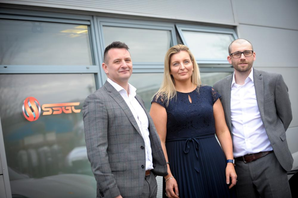 L-R David Stubbs, Demelza Staples and Andy McInnes from SSGC Ltd, which has launched WLTS Ltd, its new initiative to deliver temporary labour and recruitment services to businesses