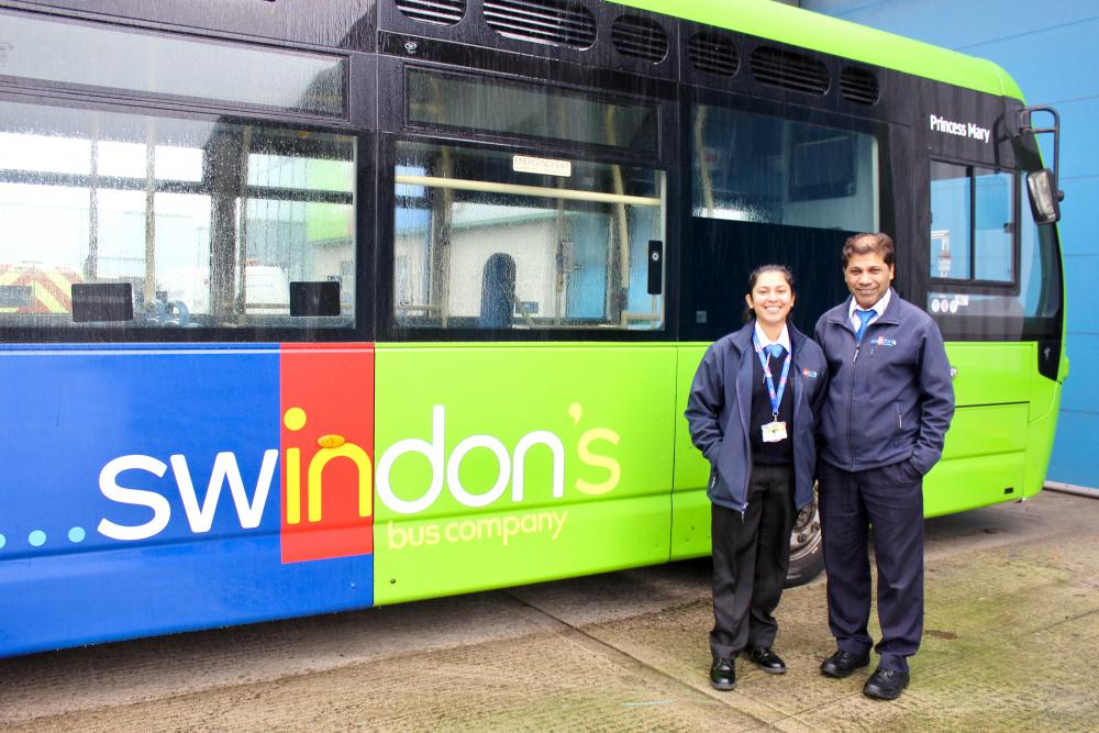 Keeping it in the family -  Lycia Estrocio joins dad Luizito as a driver at Swindon's Bus Company