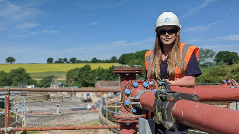 Rachael Trigg at Chieveley sewage works. Rachael applied to be a Process Technician after Thames Water changed the wording of its job adverts for frontline roles.