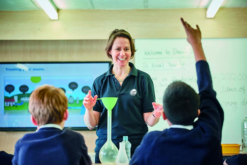 Thames Water sends education team members to schools across Swindon and the surrounding area
