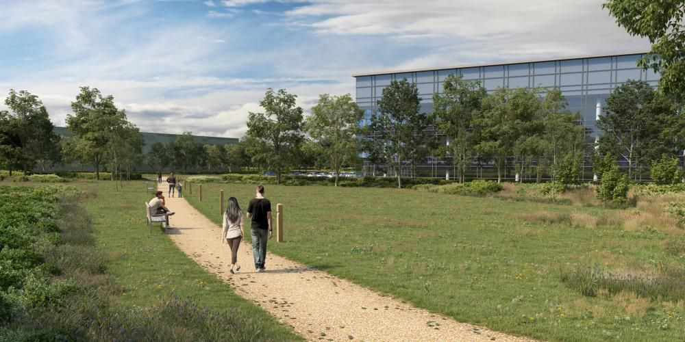 An image showing how Wasdell's science park would look