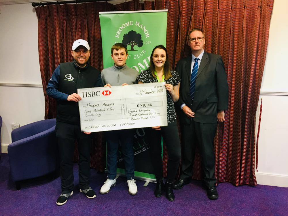 Golf champion puts in a winning performance for Prospect Hospice