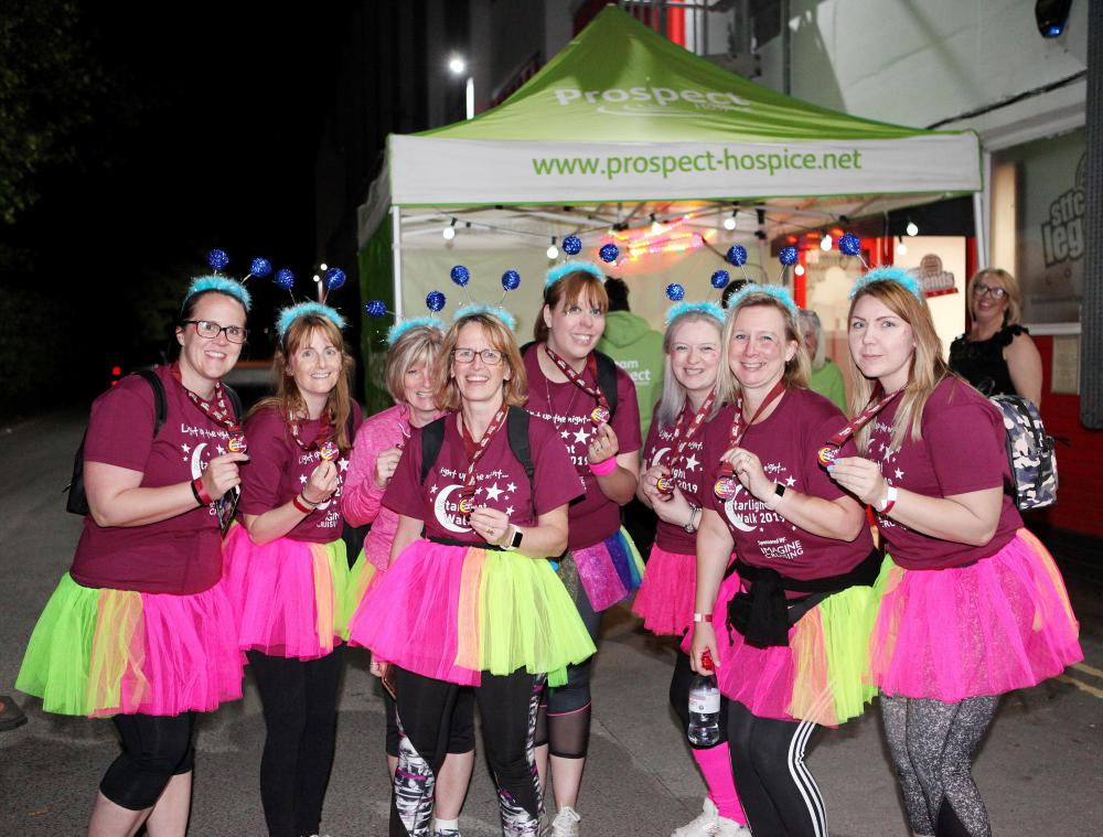 The Starlight Walk - participants in a previous one are pictured here - is a major source of funds for Prospect Hospice