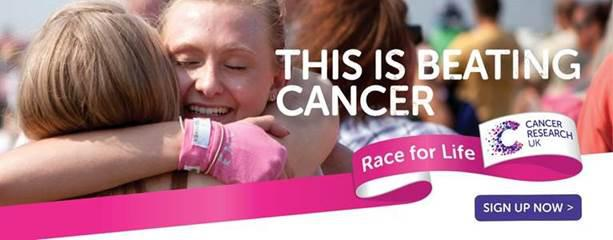 Make a date to join The Race For Life in Swindon