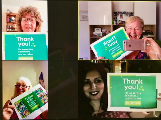 Samaritans gives a virtual thank you to its volunteers