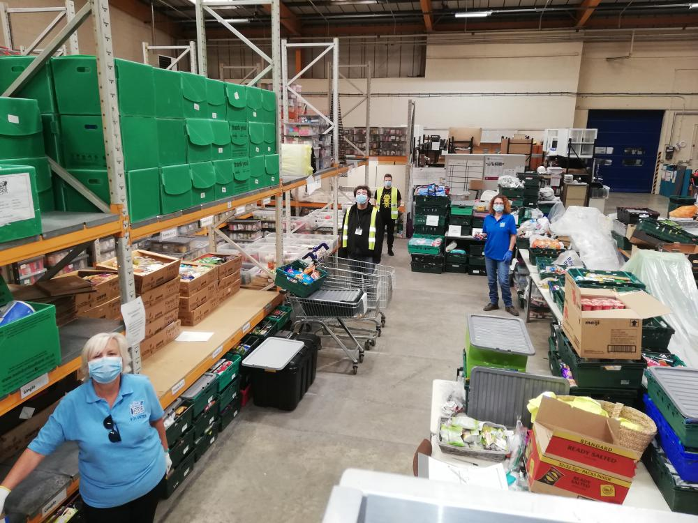 Foodbank helped to cope with rising demand by Wiltshire Community Foundation grant