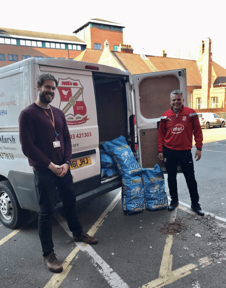 Eldene Chinese Takeaway donates spuds for the needy (with the help of Swindon Town FC Community Foundation!)