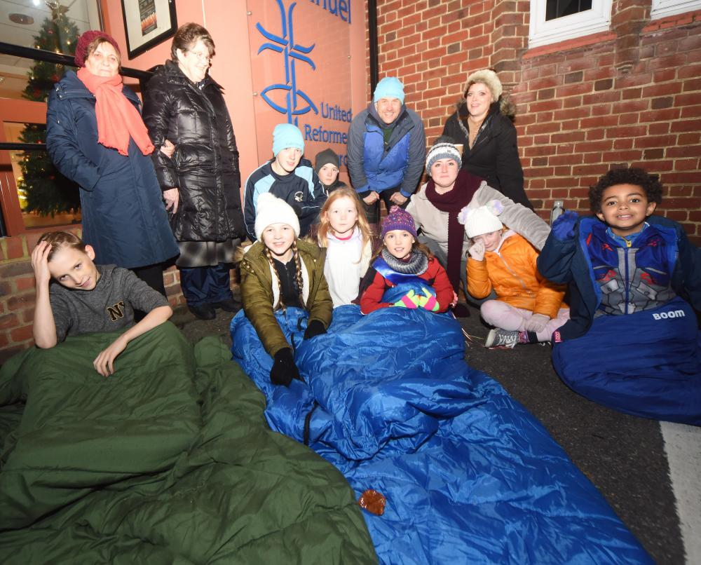 Fire cadets sleep out to raise awareness of homelessness