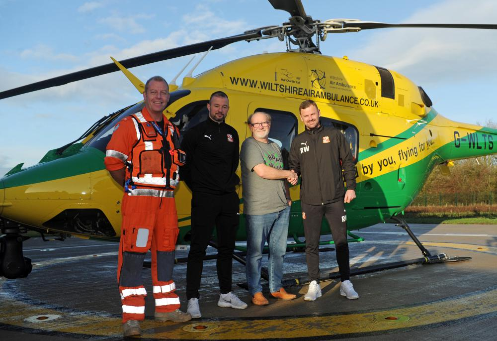 Wiltshire Air Ambulance drive ahead with Swindon Town Football Club partnership