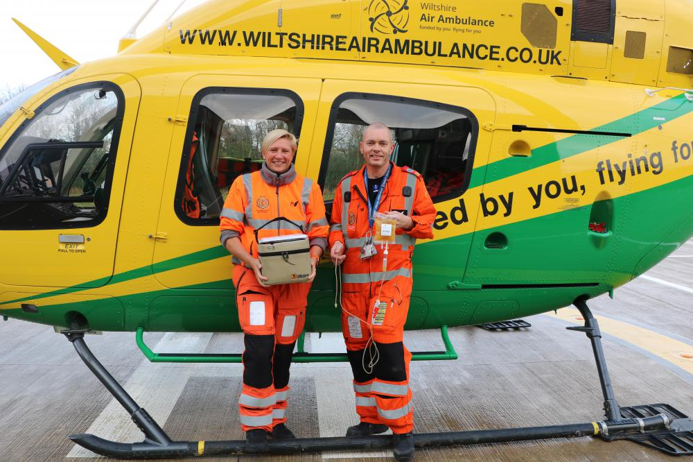 Plasma on Wiltshire Air Ambulance provides additional lifesaving capability