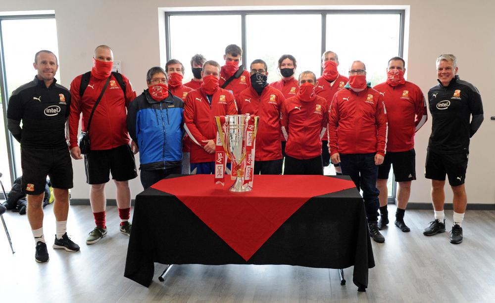 Coronavirus grant will help more mental health sufferers get a kick out of football at Swindon Town sessions