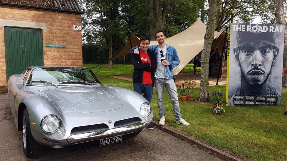 Leon Watts with a fellow car enthusiast - Coldplay's Guy Berryman