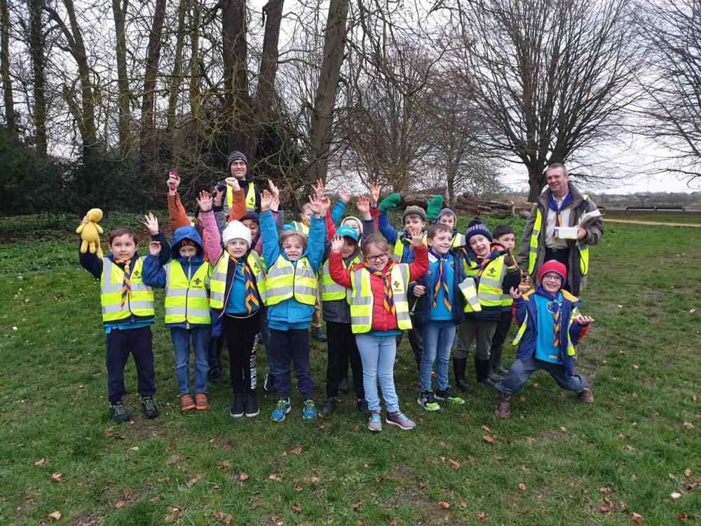 Can you spot the beavers? Housing developer donates high-vis jackets to local youth group