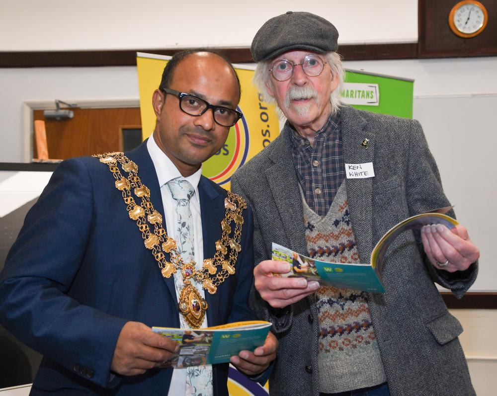 Junab Ali and Ken White - Swindon Open Studios launch 2018 ©Calyx Multimedia
