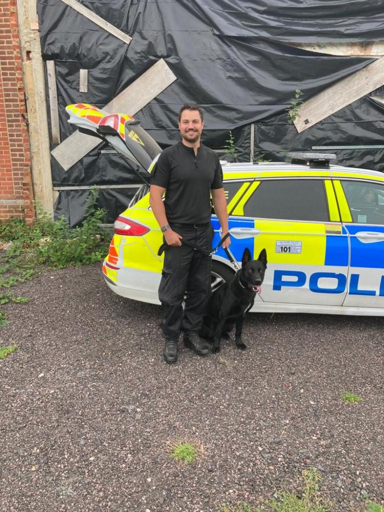 Officers attacked and spat at after suspected thief located by police dog