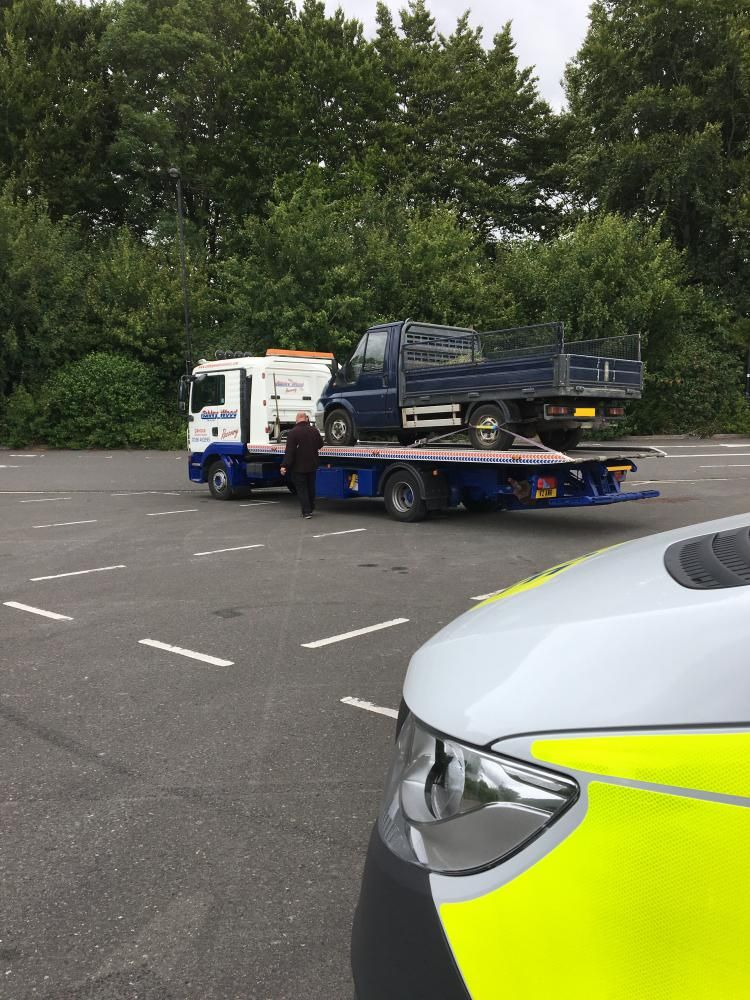 One vehicle was seized by the police during the day of action