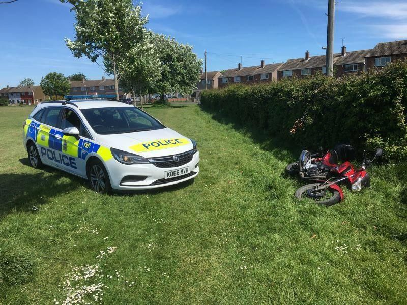 Motorbike thieves sought after bike abandoned in Buckhurst Field