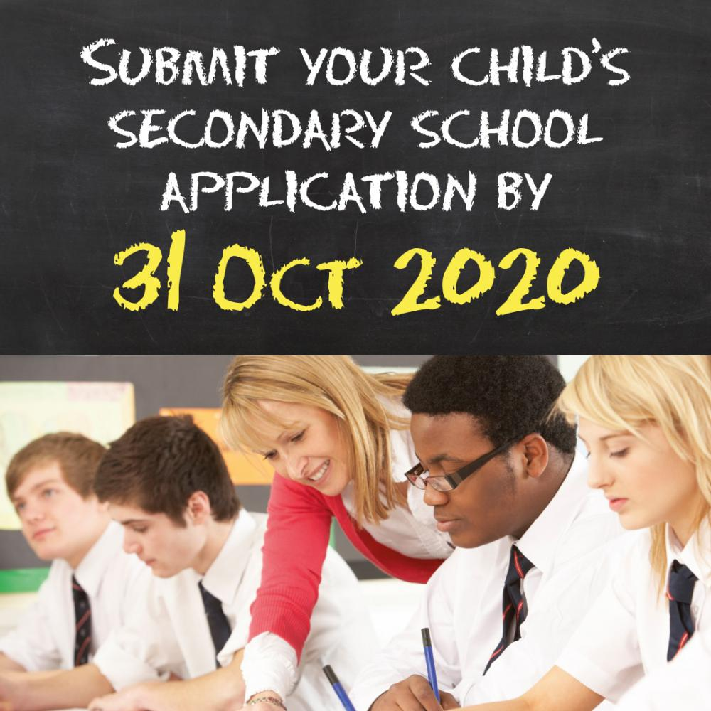 Only a few days left to submit your child's secondary school application