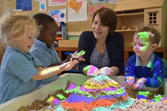 Local nursery celebrates milestone anniversary as second school in Britain to receive iSandBox