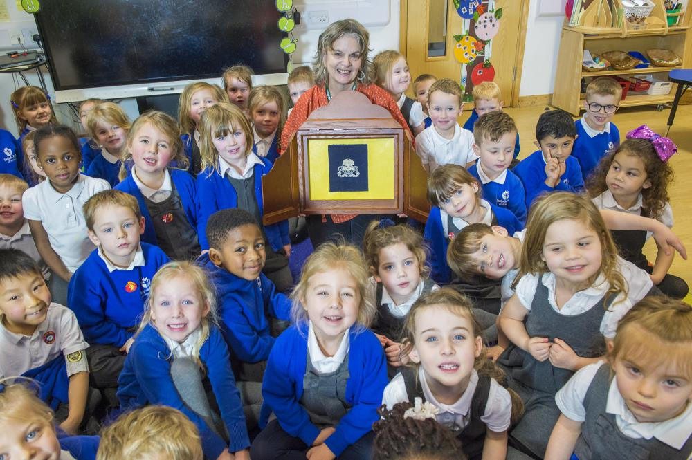 Tadpole pupils enjoy their storytelling session with Dr Nicola Grove