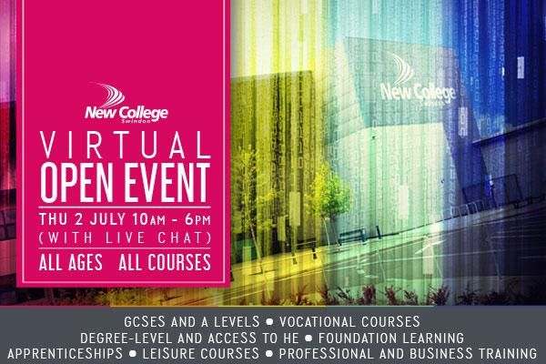 New College Swindon to open virtual doors for all courses all ages event