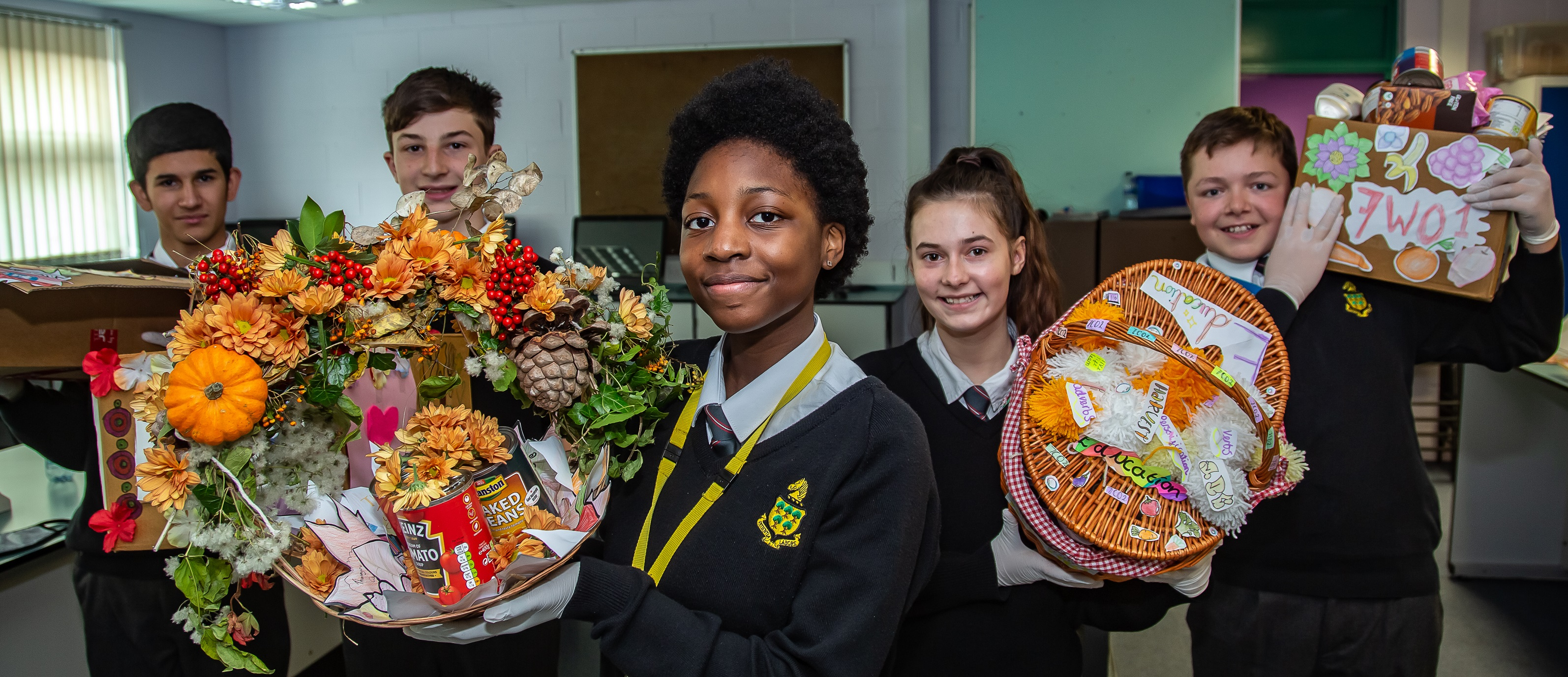Royal Wootton Bassett Academy students collect more than a tonne of food for those in need