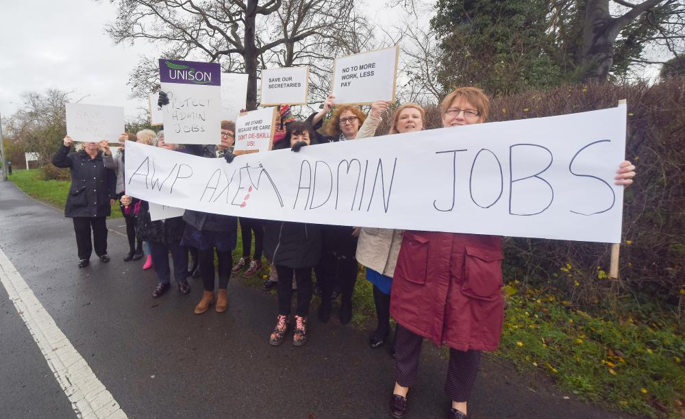 Staff protest over new proposals to cut mental health jobs