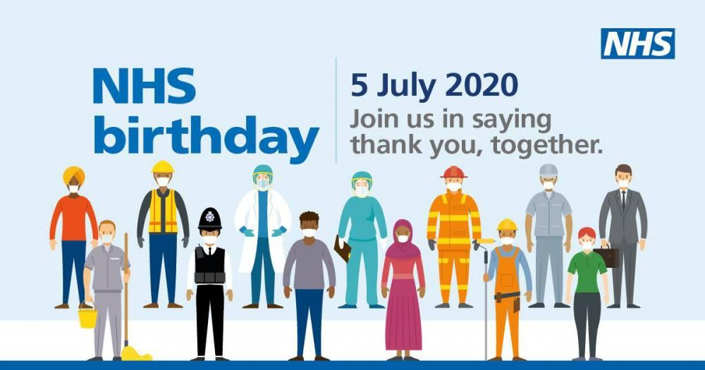 Big thank you to NHS as it celebrates its 72nd birthday