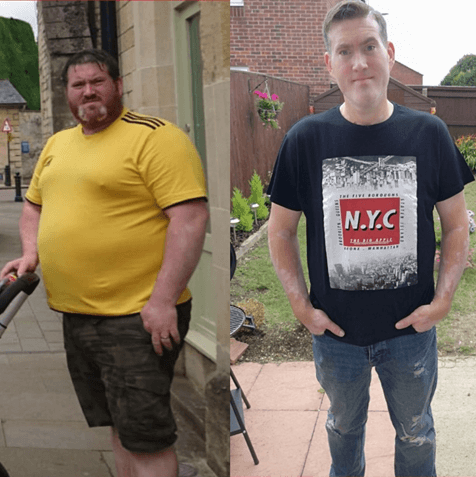Weight loss surgery transforms 30 stone Swindon man's life