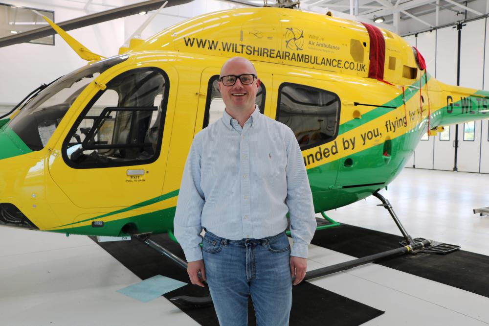 Entrepreneur James Phipps becomes a trustee at Wiltshire Air Ambulance