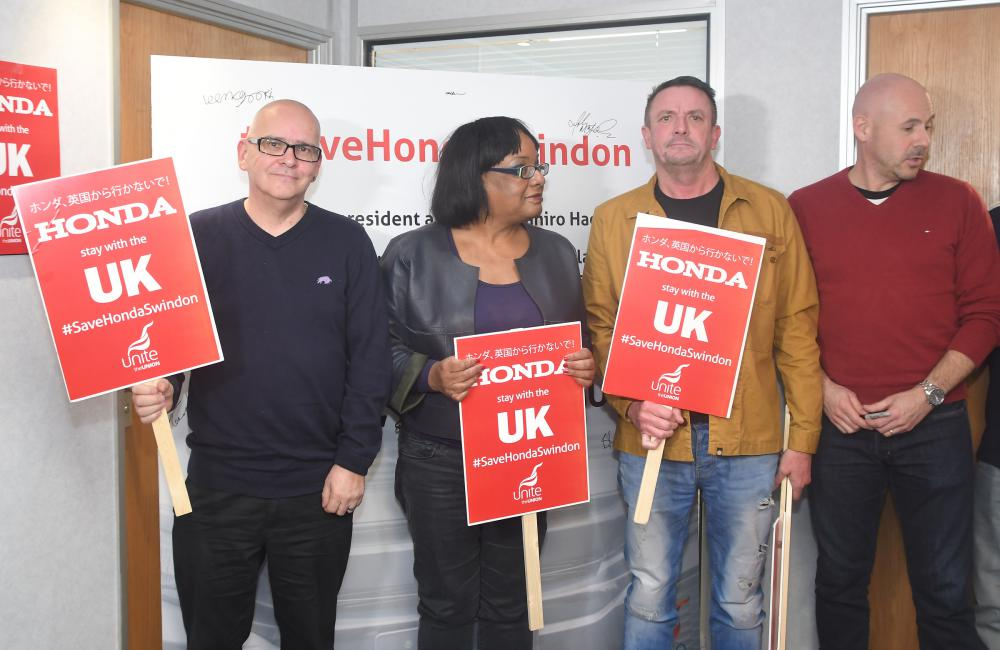 Gallery: Shadow Home Secretary Diane Abbott visits Swindon to back union plan to save Honda plant