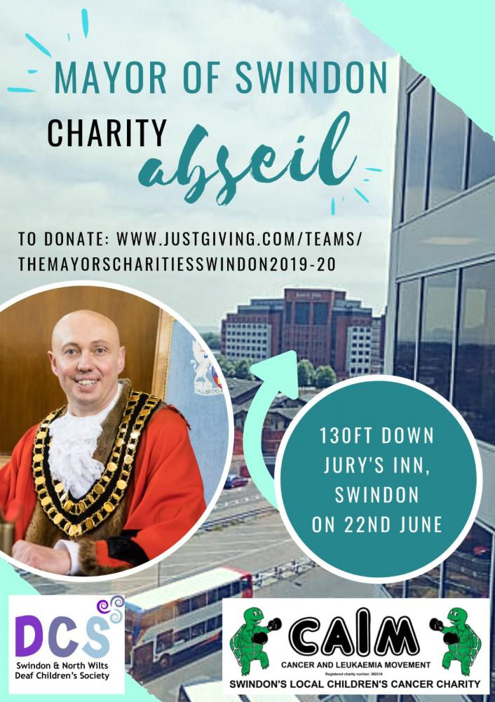 Swindon Mayor Kevin Parry to abseil down Jury's Inn for two local charities